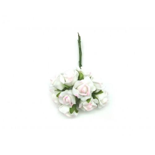 Τριαντάφυλλο Αφρώδες Λευκό/Ροζ Πακ 60τμχ 20mm