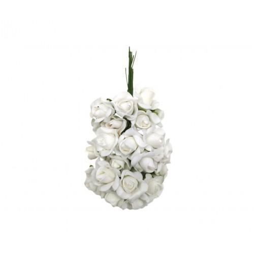 Τριαντάφυλλο Αφρώδες Λευκό Πακ 60τμχ 20mm
