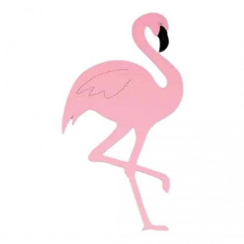 Ροζ Φλαμίνγκο Ξύλινο 10cm