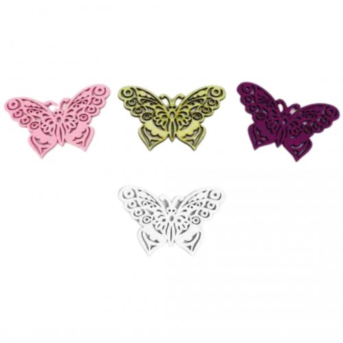 Πεταλούδα Ξύλινη Μεσαία 8.7x5cm