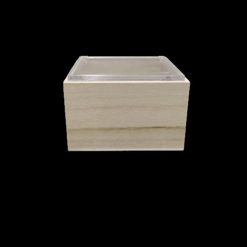 Κουτάκι Ξύλινο με Πλεξιγκλάς Καπάκι 5x7x4cm