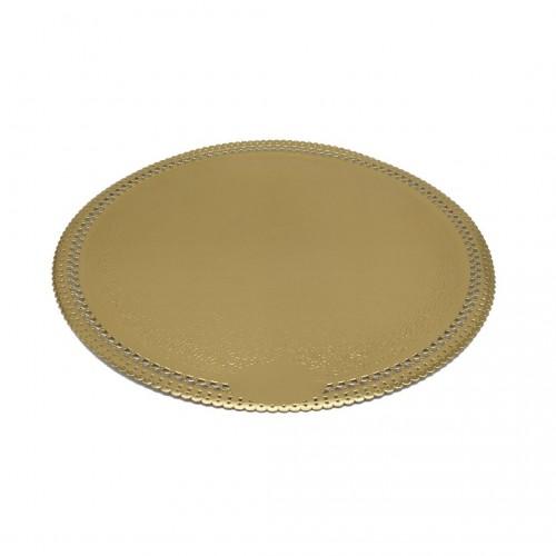 Δίσκος Στρογγυλός Χάρτινος Χρυσός 30cm