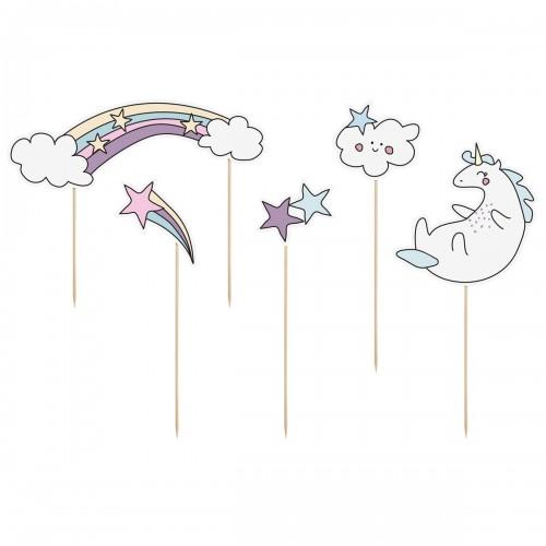 Διακοσμητικό Τούρτας Unicorn Σετ 5τμχ