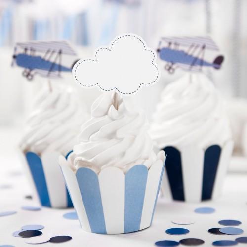 Διακοσμητικό Για Cupcakes Αεροπλάνο Σετ 6τμχ