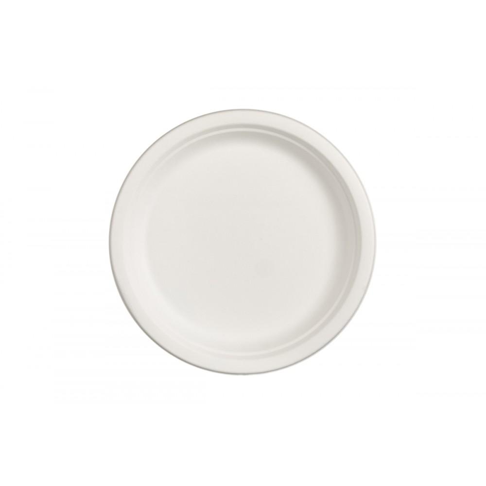 Πιάτο από Ζαχαροκάλαμο Στρογγυλό 26cm Πακ 50τμχ