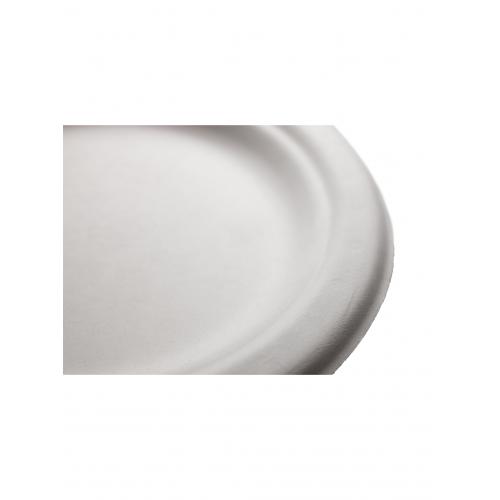 Πιάτο από Ζαχαροκάλαμο Στρογγυλό 18cm Πακ 100τμχ