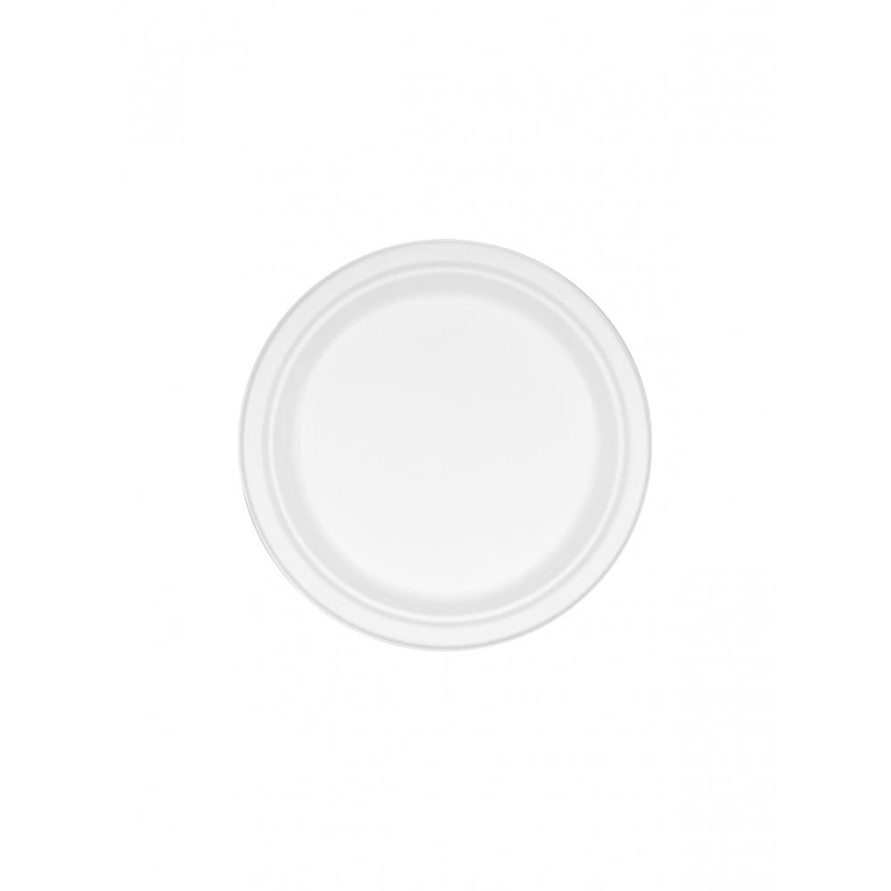 Πιάτο από Ζαχαροκάλαμο Στρογγυλό 23cm Πακ 50τμχ