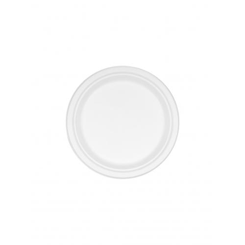 Πιάτο από Ζαχαροκάλαμο Στρογγυλό 23cm Πακ 100τμχ
