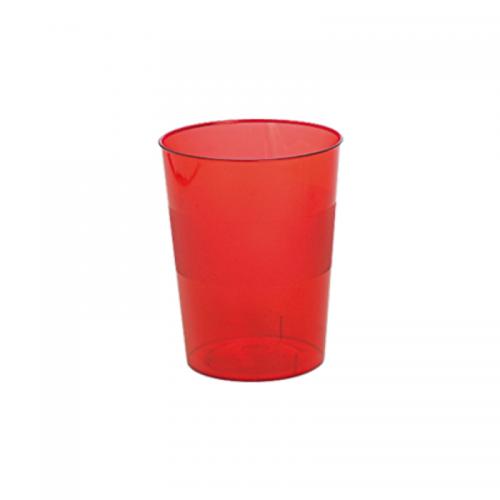 Ποτήρι Πλαστικό Κόκκινο 250ml Πακ 10τμχ