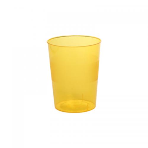 Ποτήρι Πλαστικό Κίτρινο 250ml Πακ 10τμχ