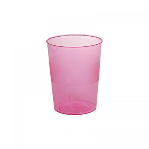 Ποτήρι Πλαστικό Φούξια 250ml Πακ 10τμχ