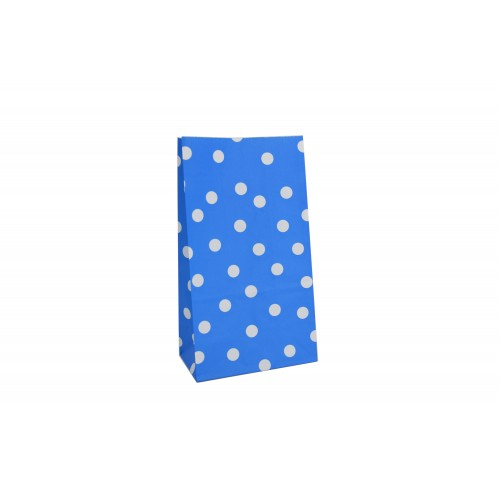 Σακουλάκι Χάρτινο Μπλε Λευκό Πουά 24Χ13Χ8cm