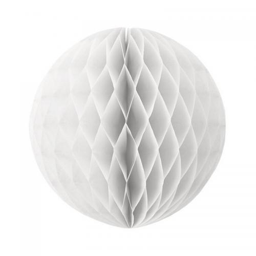 Μπάλα Χάρτινη Διακοσμητική Λευκή 30cm Πακ 3τμχ