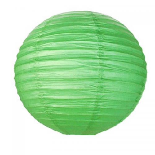 Φαναράκι Χάρτινο Στρογγυλό Πράσινο 40cm Πακ 3τμχ