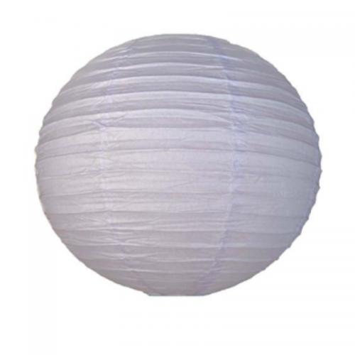 Φαναράκι Χάρτινο Στρογγυλό Λευκό 40cm Πακ 3τμχ