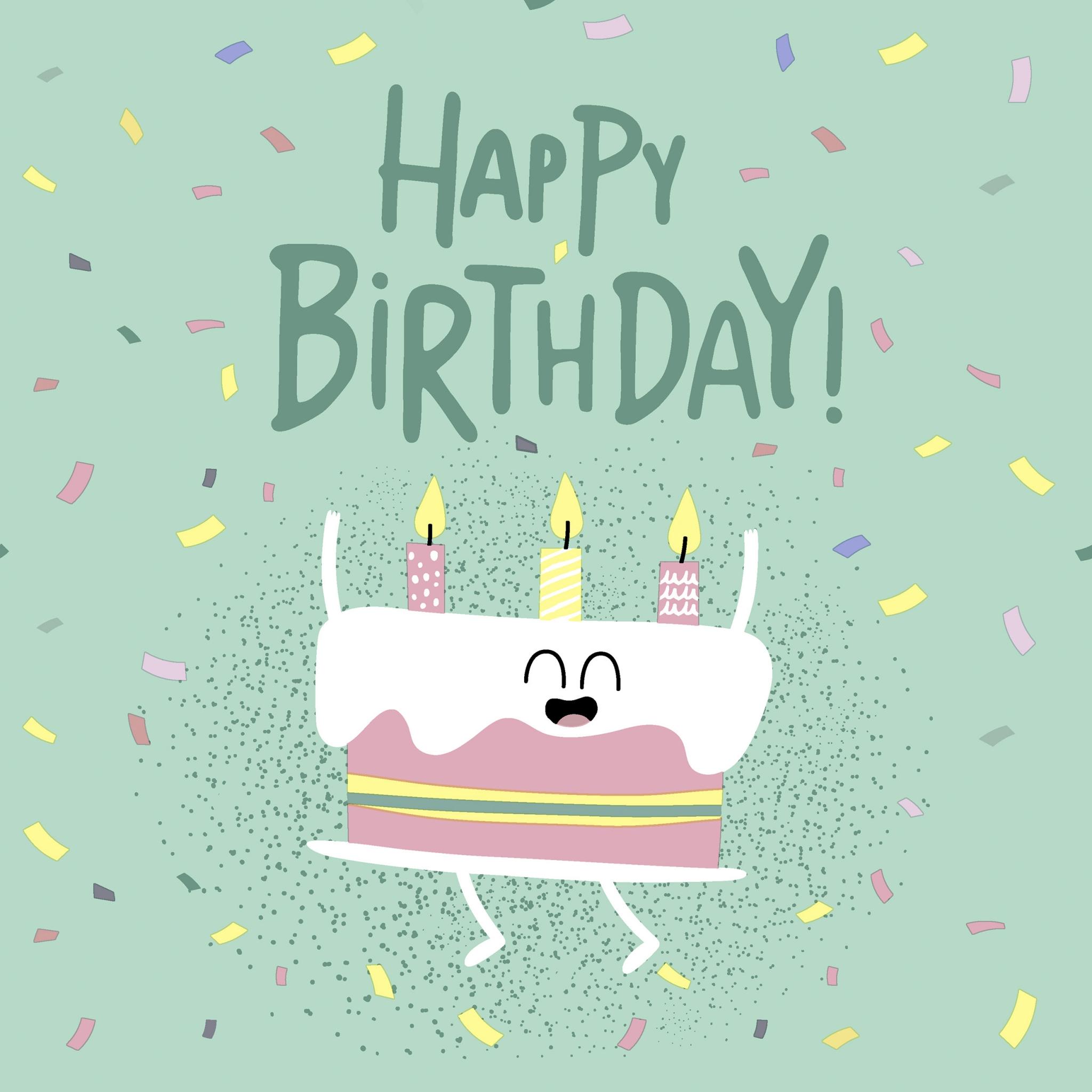Χαρτοπετσέτα Happy Birthday & Τούρτα 33x33cm Πακ 20τμχ