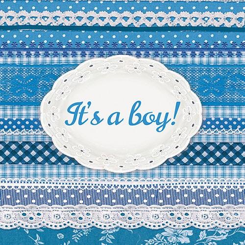 """Χαρτοπετσέτα """"It's a Boy"""" 33Χ33 Πακ 20τμχ"""