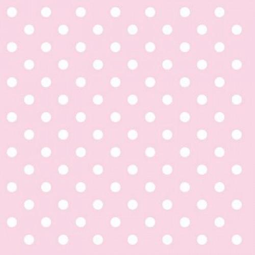 Χαρτοπετσέτα Ροζ με Λευκό Πουά 33Χ33cm Πακ 20τμχ