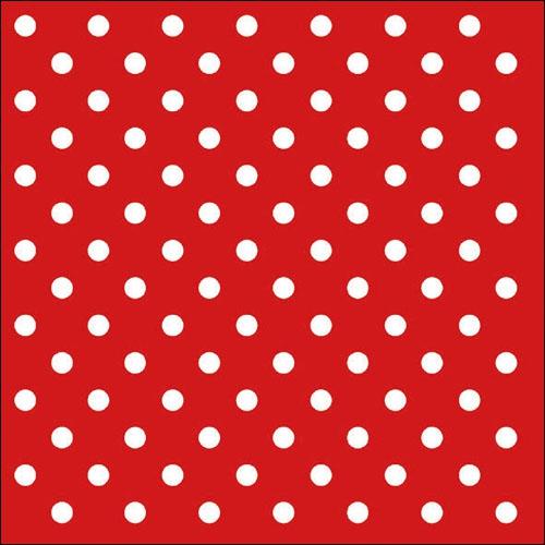 Χαρτοπετσέτα Κόκκινη με Λευκό Πουά 33Χ33cm Πακ 20τμχ