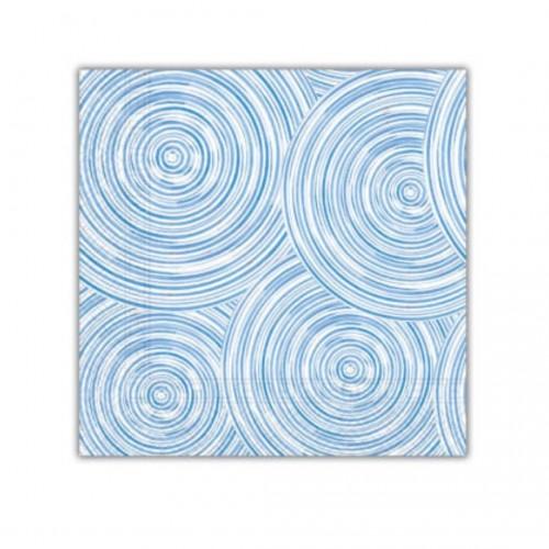 Χαρτοπετσέτα Decorata Blue Circles 33x33cm Πακ 20τμχ