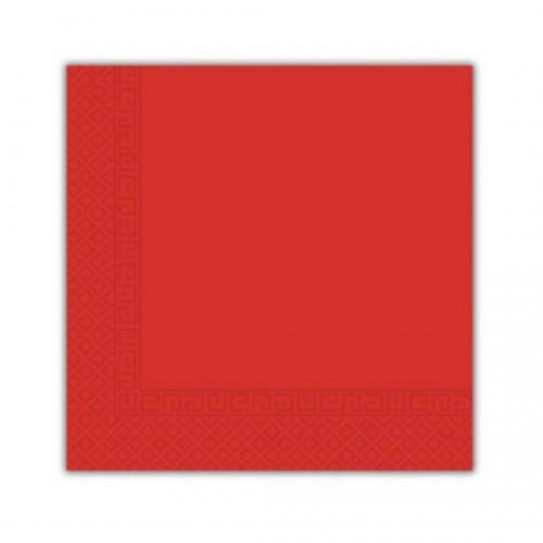 Χαρτοπετσέτα Decorata Κόκκινη 33x33cm Πακ 20τμχ