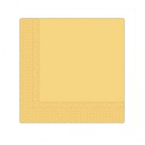 Χαρτοπετσέτα Decorata Κίτρινη 33x33cm Πακ 20τμχ