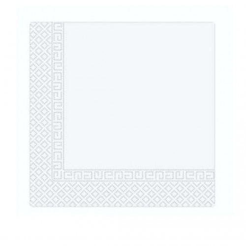 Χαρτοπετσέτα Decorata Λευκή 33x33cm Πακ 20τμχ