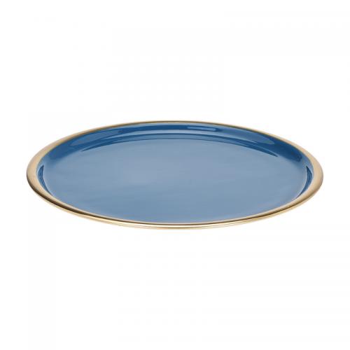 Δίσκος Μεταλλικός Μπλε με Χρυσό 36cm