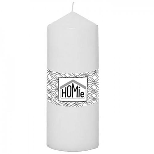 Κερί Κολόνα Λευκό 7x14cm