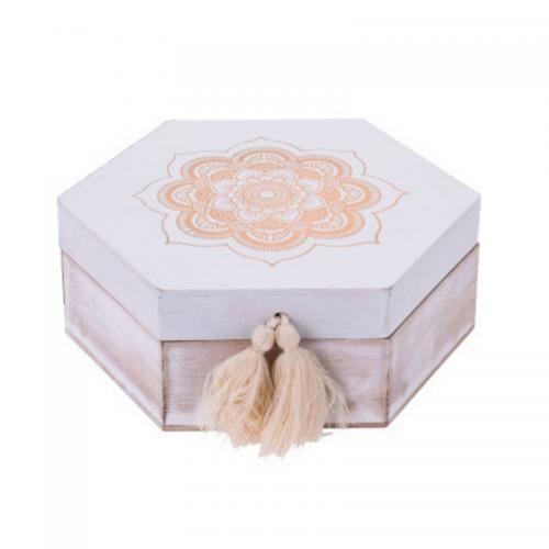 Κουτί Ξύλινο Πολυγωνικό 22X19Χ8.5cm