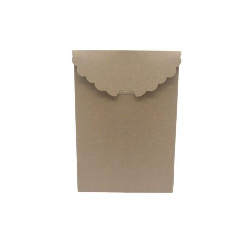 Κουτί Τσαντάκι Χάρτινο Κραφτ με Εγκωπή 13x9.5x5cm