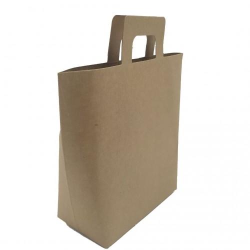 Τσάντα Χάρτινη Κραφτ με Χερούλι 18x15x8cm