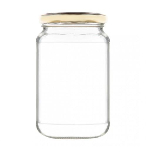 Βάζο Γυάλινο με Χρυσό Καπάκι 720ml