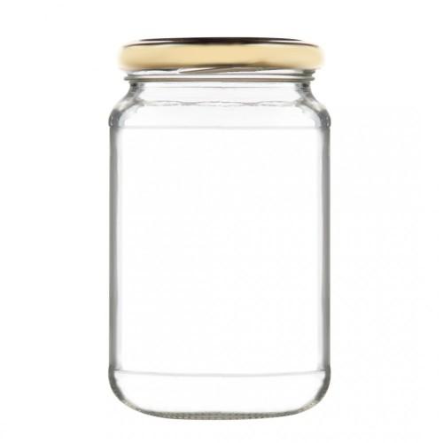 Βάζο Γυάλινο με Χρυσό Καπάκι 370ml