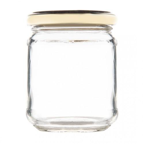 Βάζο Γυάλινο με Χρυσό Καπάκι 212ml