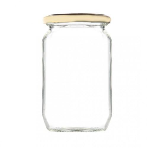 Βάζο Γυάλινο με Χρυσό Καπάκι 1000ml