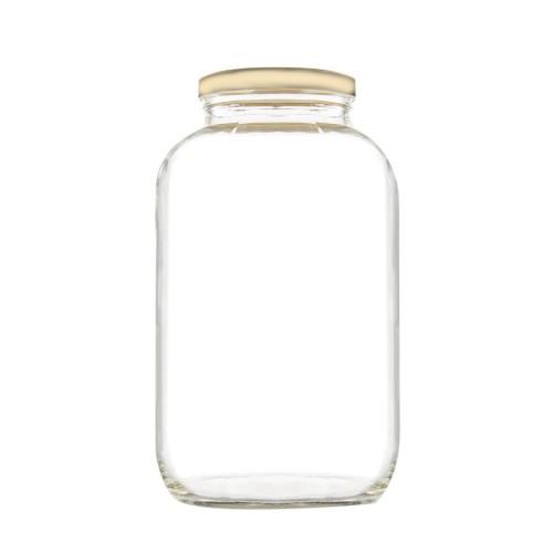 Βάζο Γυάλινο με Χρυσό Καπάκι 4250ml