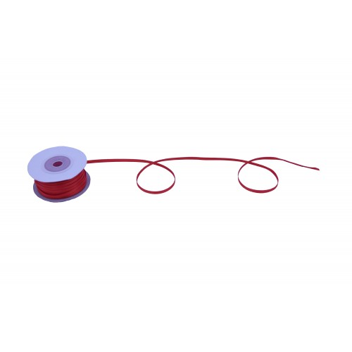 Κορδέλα Σατέν Διπλής Όψης Κόκκινη 3mmX50Y