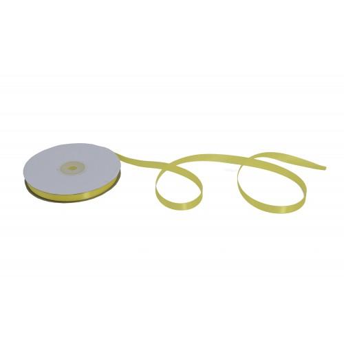 Κορδέλα Σατέν Μονής Όψης Κίτρινη 10mmX50Y
