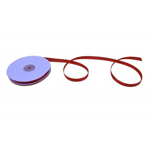Κορδέλα Σατέν Μονής Όψης Κόκκινο 12mmX50Y