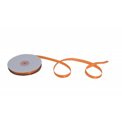 Κορδέλα Σατέν Μονής Όψης Πορτοκαλί 12mmX50Y