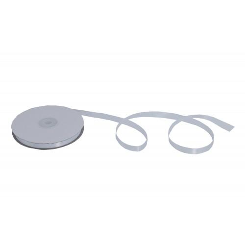 Κορδέλα Σατέν Μονής Όψης Λευκή 10mmX50Y