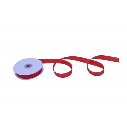 Κορδέλα Σατέν Μονής Όψης Κόκκινη 19mmX50Y