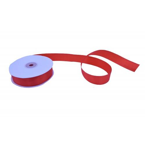 Κορδέλα Σατέν Μονής Όψης Κόκκινη 25mmX50Y