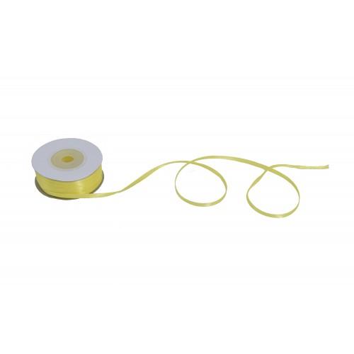 Κορδέλα Σατέν Μονής Όψης Κίτρινη 3mmX50Y
