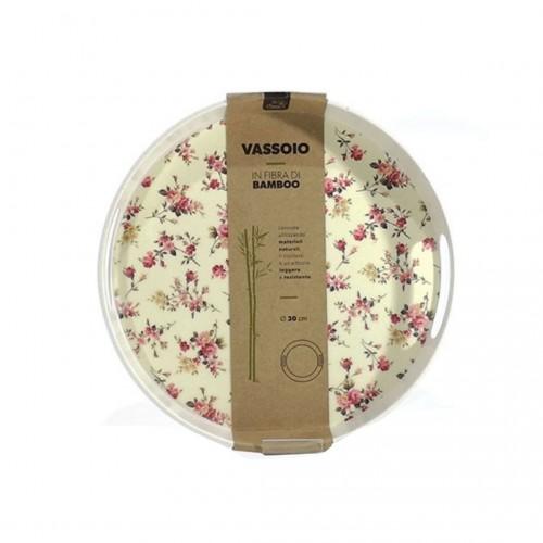 Δίσκος Σερβιρίσματος Στρογγυλός με Σχέδιο Τριανταφυλλάκια 30cm