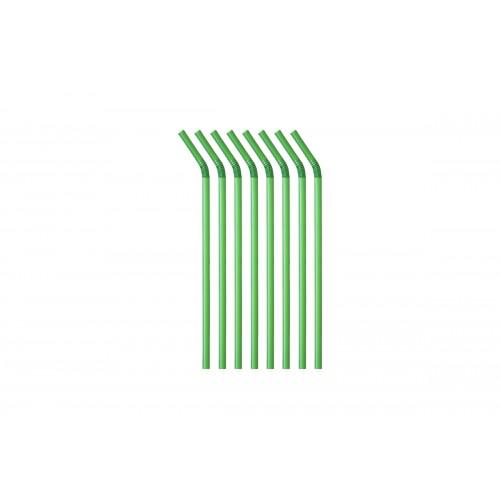 Καλαμάκια PLA Σπαστά Πράσινα Συσκευασμένα Πακ 1000τμχ