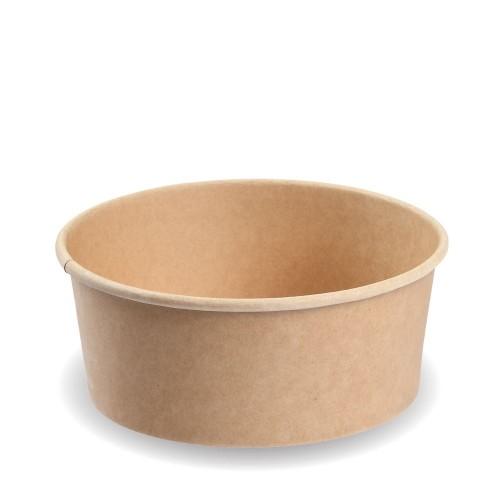 Σκεύος Σαλάτας Κραφτ με Καπάκι 1300ml Πακ 50τμχ