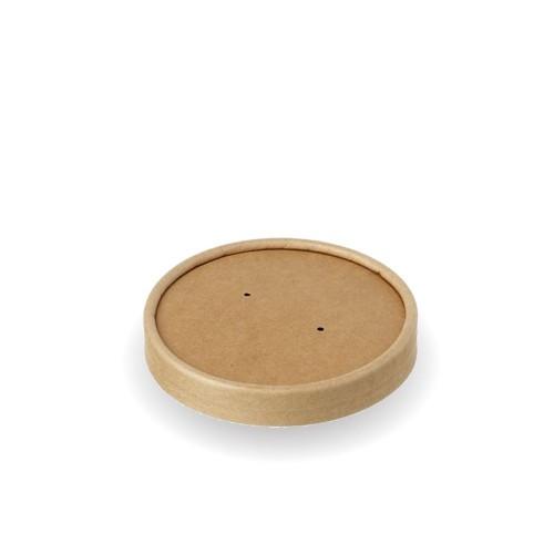Καπάκι για Μπολ Σούπας Χάρτινο Κραφτ 580ml Πακ 25τμχ