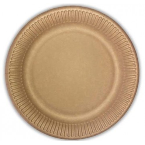 Πιάτα Kraft Decorata 23cm Πακ 10τμχ
